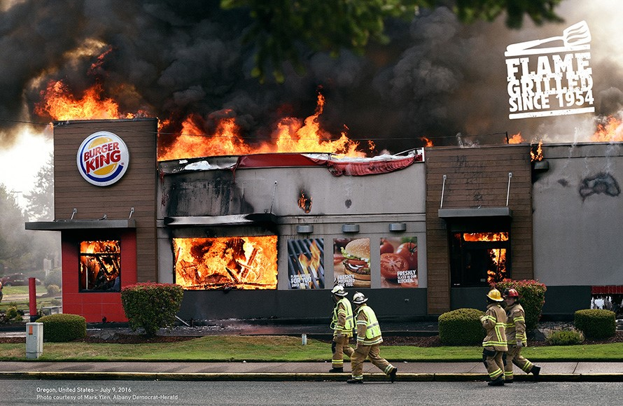 """Burger King """"Flame grilled since 1954"""""""