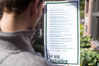 """LL Bean """"Be an Outsider"""