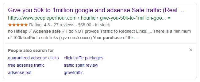 An Ad to Buy Traffic